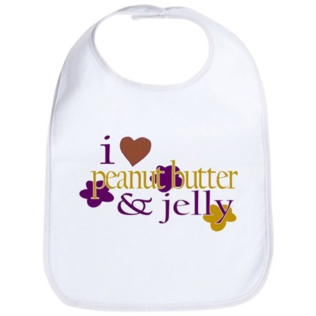 I Love Peanut Butter & Jelly Bib