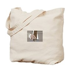 Brown Tie Tote Bag