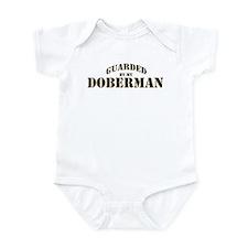 Doberman: Guarded by Infant Bodysuit