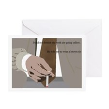 Brown Tie Greeting Cards (Pk of 10)