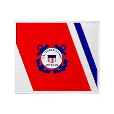coastguardveteranracingstripemousepa Throw Blanket