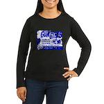 Poster Gun Girls Women's Long Sleeve Black T-Shirt