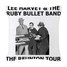 LeeHarveyAndTheRubyBulletBand3 Woven Throw Pillow