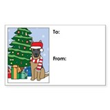Belgian Malinois Christmas Gift Tag Decal