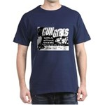 Gun Girls Poster Blue T-Shirt