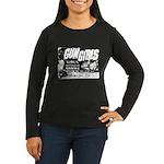 Gun Girls Poster Women's Long Sleeve Brown T-Shirt