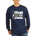 Gun Girls Poster Long Sleeve Blue T-Shirt