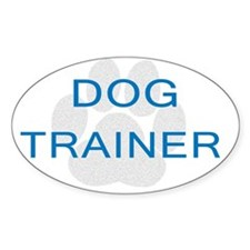Dog Trainer Oval Decal