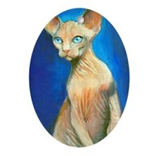 Sphynx cat 15  Oval Ornament