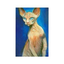 Sphynx cat 15 Rectangle Magnet