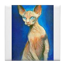Sphynx cat 15 Tile Coaster