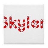 Skyler - Candy Cane Tile Coaster