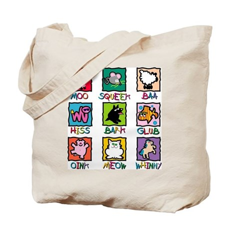 Animals and Sounds Tote Bag