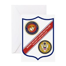 USMC-MarineSecurityGuardBattalionGIF Greeting Card