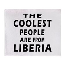 The Coolest Liberia Designs Throw Blanket