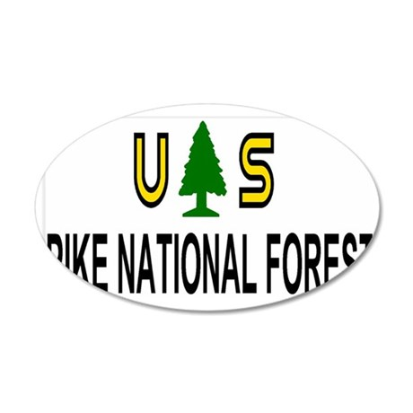 ForestServicePikeForestTruck 35x21 Oval Wall Decal