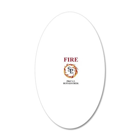 ForestServicePikeForestStick 20x12 Oval Wall Decal