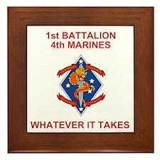 USMC1stBn4thMarinesRedJersey.gif Framed Tile