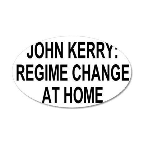 JohnKerryBlackMeshCapX.gif 35x21 Oval Wall Decal