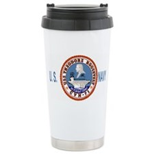 USSTheodoreRooseveltBlueMeshCap Ceramic Travel Mug