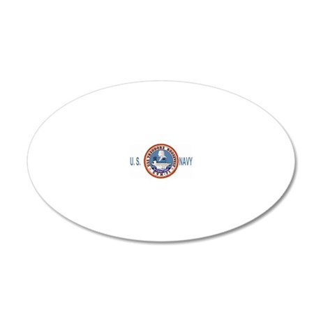 USSTheodoreRooseveltBlueMesh 20x12 Oval Wall Decal