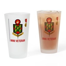USMC5thMarineRegimentWWIIVeteran.gi Drinking Glass