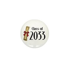 Class of 2033 Diploma Mini Button (10 pack)