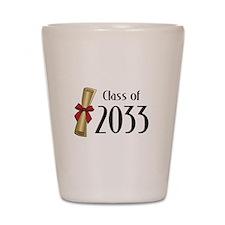 Class of 2033 Diploma Shot Glass