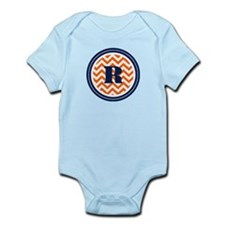 Orange & Navy Infant Bodysuit