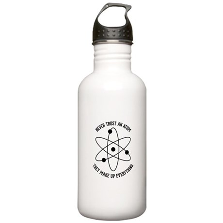 Never Trust An Atom Stainless Water Bottle 1.0L
