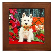 West Highland Westie Christmas Framed Tile