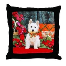 West Highland Westie Christmas Throw Pillow