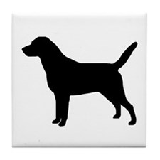 """Lab Silhouette"" Tile Coaster"