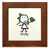Frog - Vicky Framed Tile