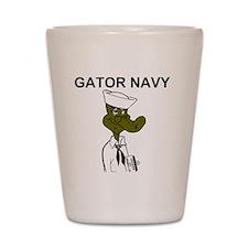 NavyGatorNavyGolfShirt.gif Shot Glass