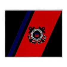 USCG-Racing-Stripe-Bonnie.gif Throw Blanket
