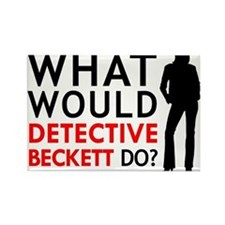 """""""What Would Detective Beckett Do?"""" Rectangle Magne"""