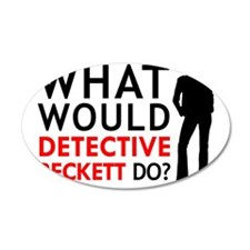 """What Would Detective Beckett Do?"" Decal Wall Sticker"