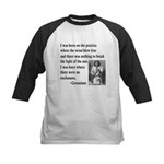 Geronimo Quote Kids Baseball Jersey