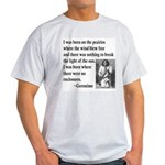 Geronimo Quote Ash Grey T-Shirt