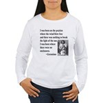 Geronimo Quote Women's Long Sleeve T-Shirt