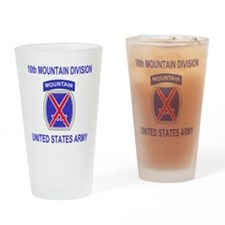 Army-10th-Mountain-Division-Shirt-2 Drinking Glass