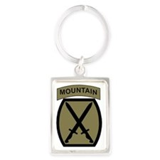 Army-10th-Mountain-Div-Woodland. Portrait Keychain