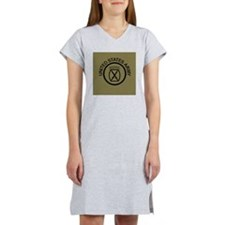 Army-10th-Mountain-Div-Button-O Women's Nightshirt