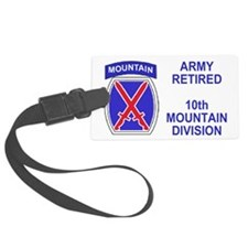 Army-10th-Mountain-Div-Retired-S Luggage Tag
