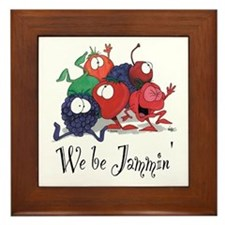We Be Jammin Kitchen Stuff Framed Tile
