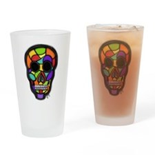 Skull - Stained Glass Drinking Glass