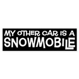Snowmobile Bumper Car Sticker