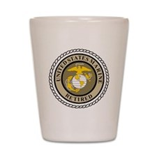 USMC-Retired-Khaki-... Shot Glass
