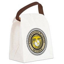 USMC-Retired-Khaki-... Canvas Lunch Bag